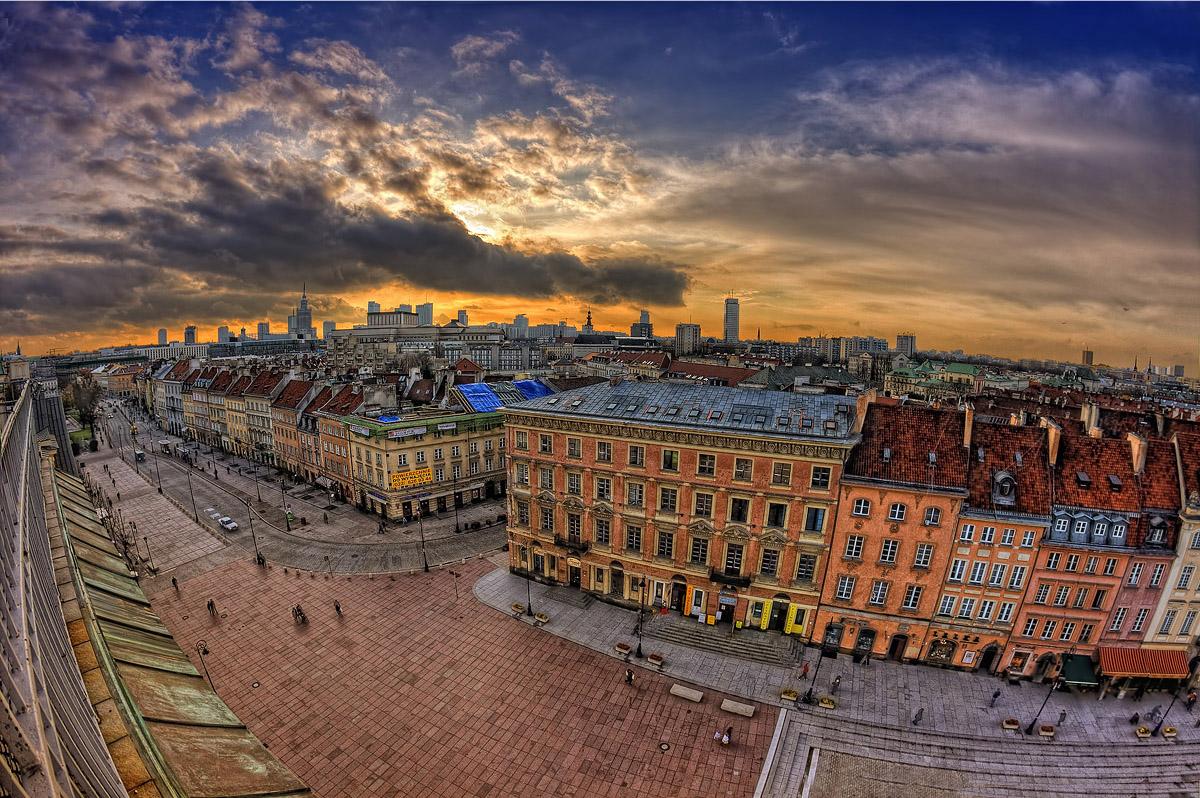 Sunset Warsaw