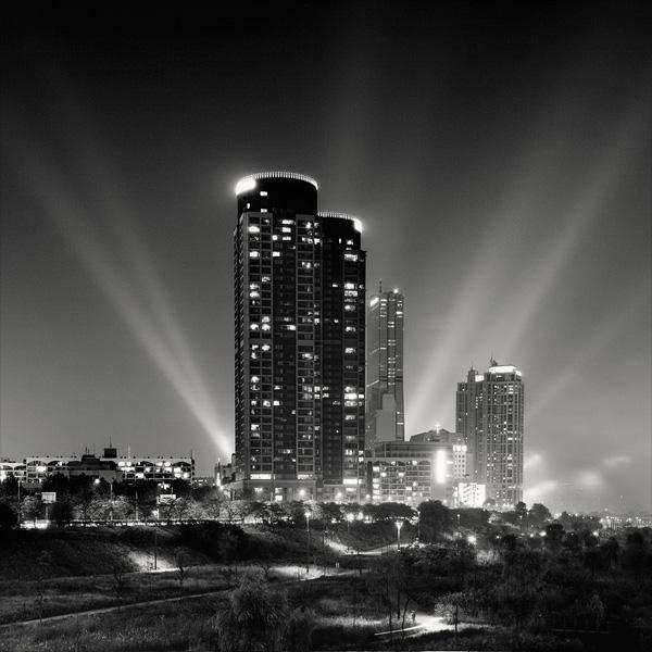 черно белое фото сеула #2
