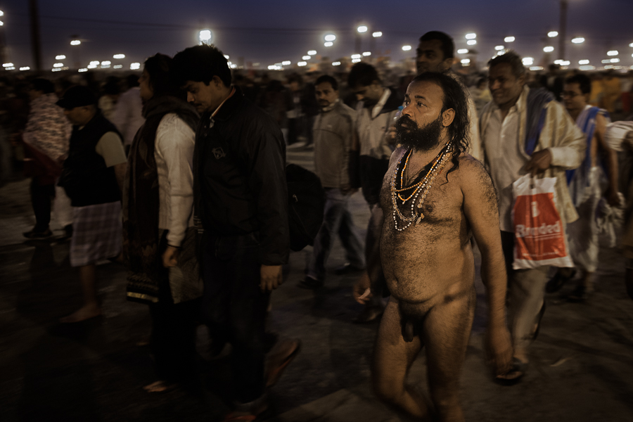 12 - a sadhu on his way back to his camp.