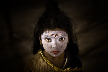 Little Girl among the pilgrims - Allahabad