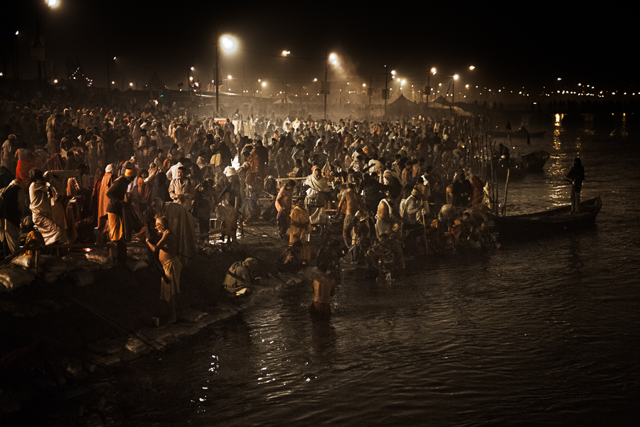 4 - Pilgrims Taking their Baths early in the Morning