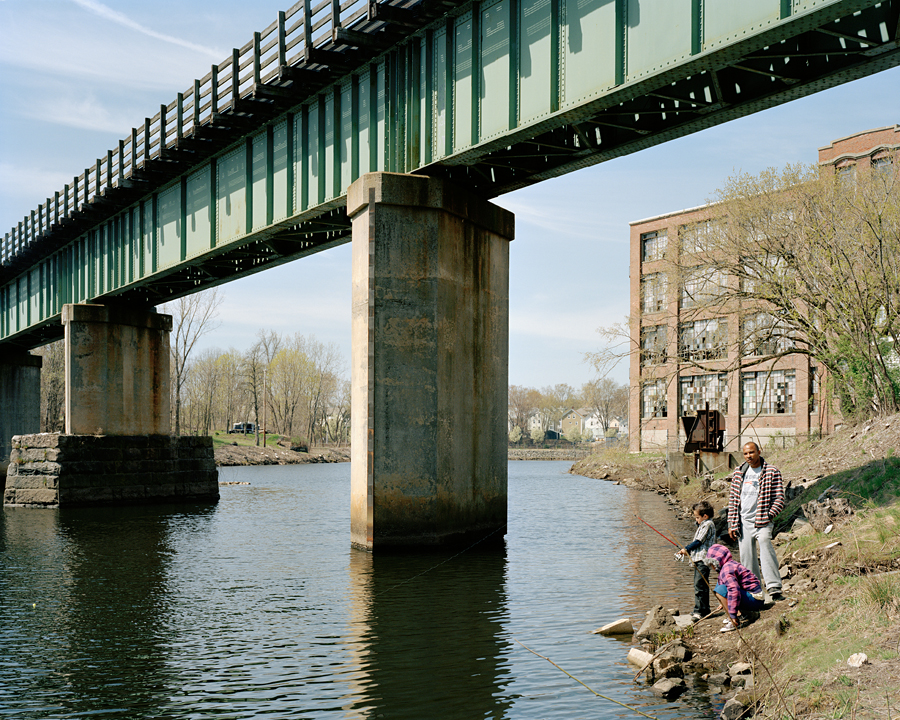 Jeremy Jones, Jeremy Jr, & Jadya, Blackstone River, Woonsocket, RI 4_15_12 001
