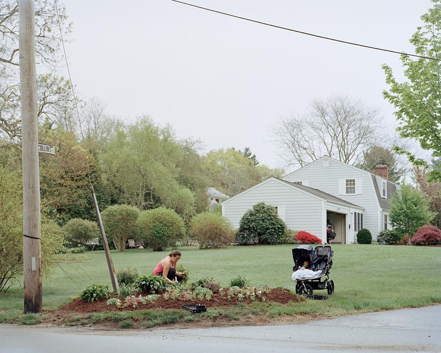 Erica Gardening, Barrington, RI 5_5_12 001