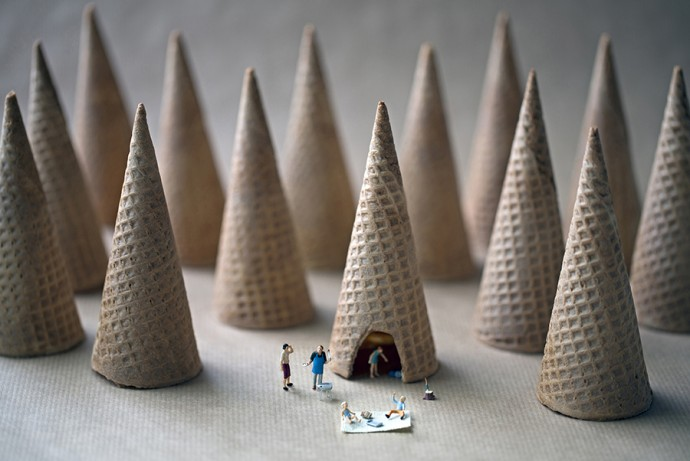 cone camping 900px by Christopher Boffoli