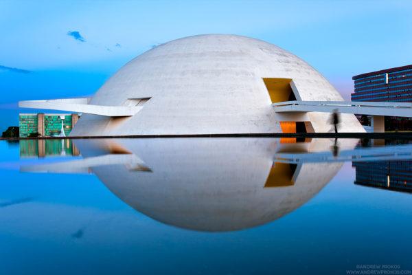 National Museum of Brasilia at Dusk