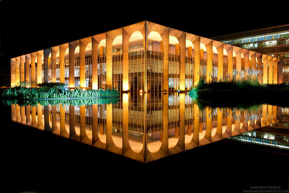 Palacio do Itamaraty at Night, Brasilia