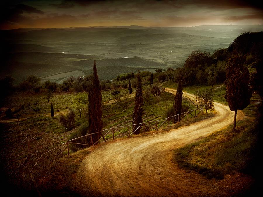 Winding Road, Montalcino, Tuscany