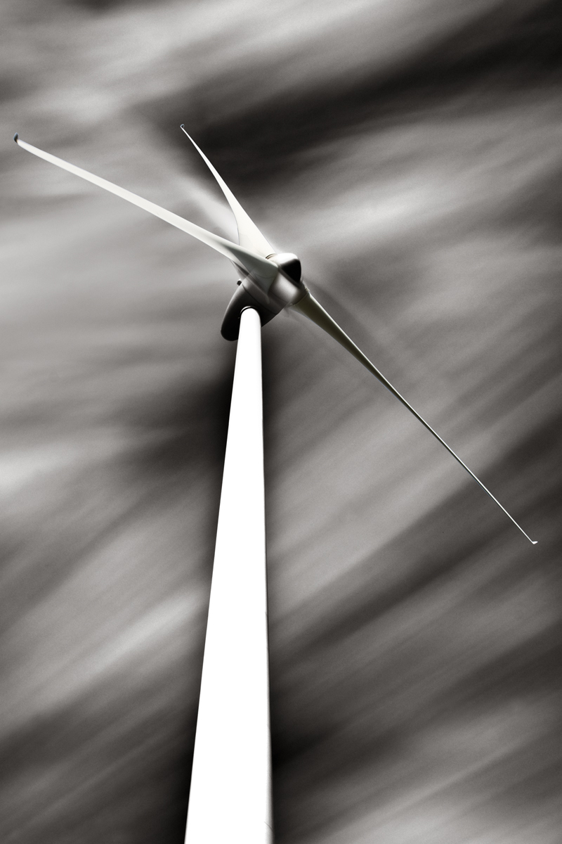Algarve Wind Farm #1 Long Exposure Black and White