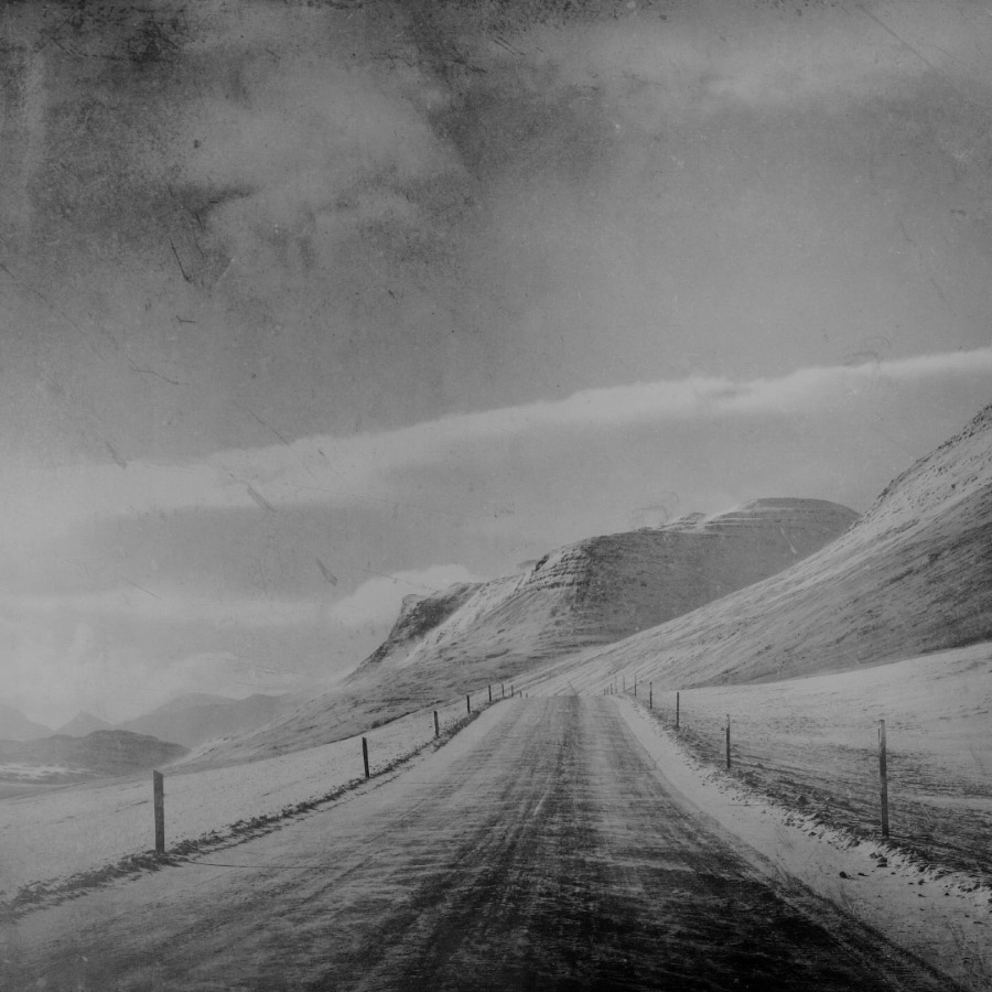 Winter on the road, East Iceland.