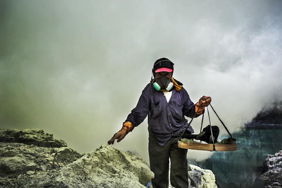 Bondowoso - East Java; Sulfur Miners Hold Annual Sacrifice
