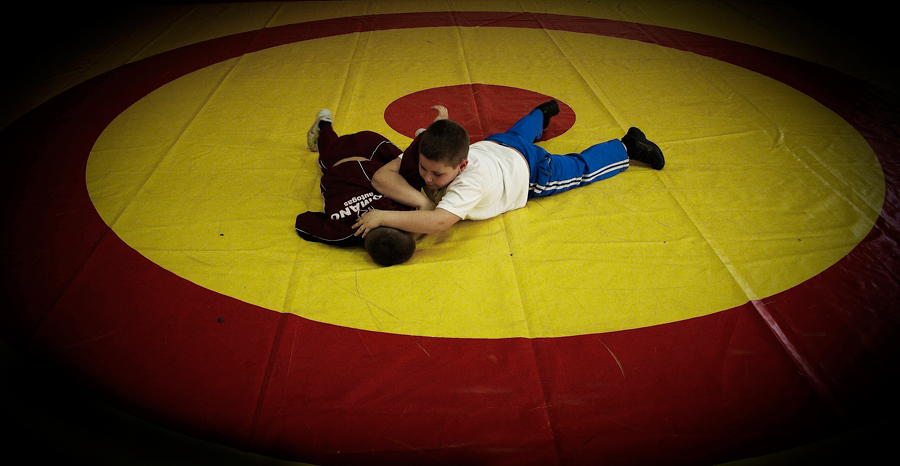 In Naples. Freestyle wrestling.
