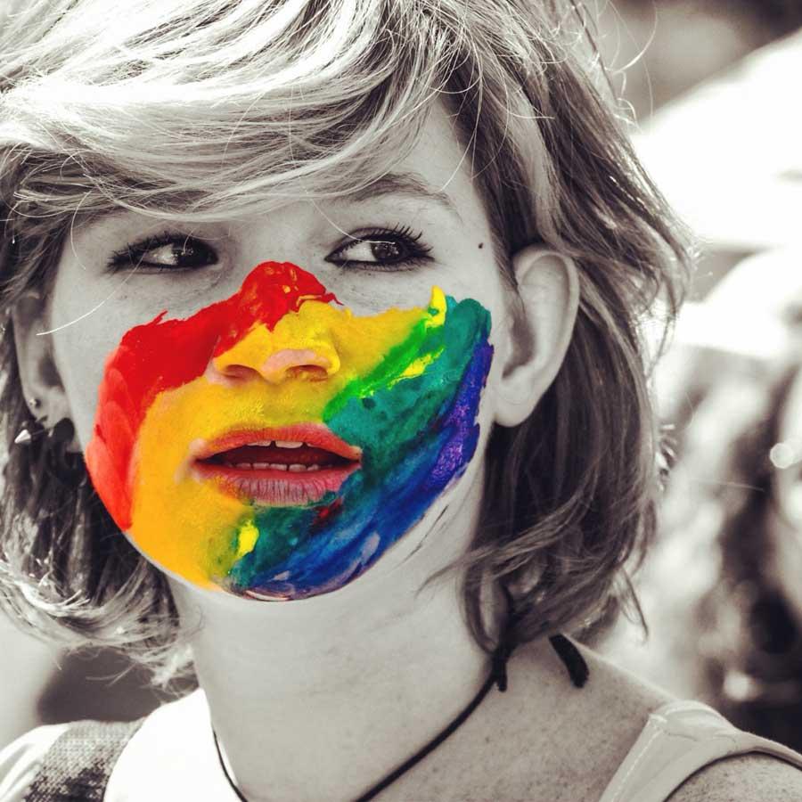 RainbowFace_ LisaShalom