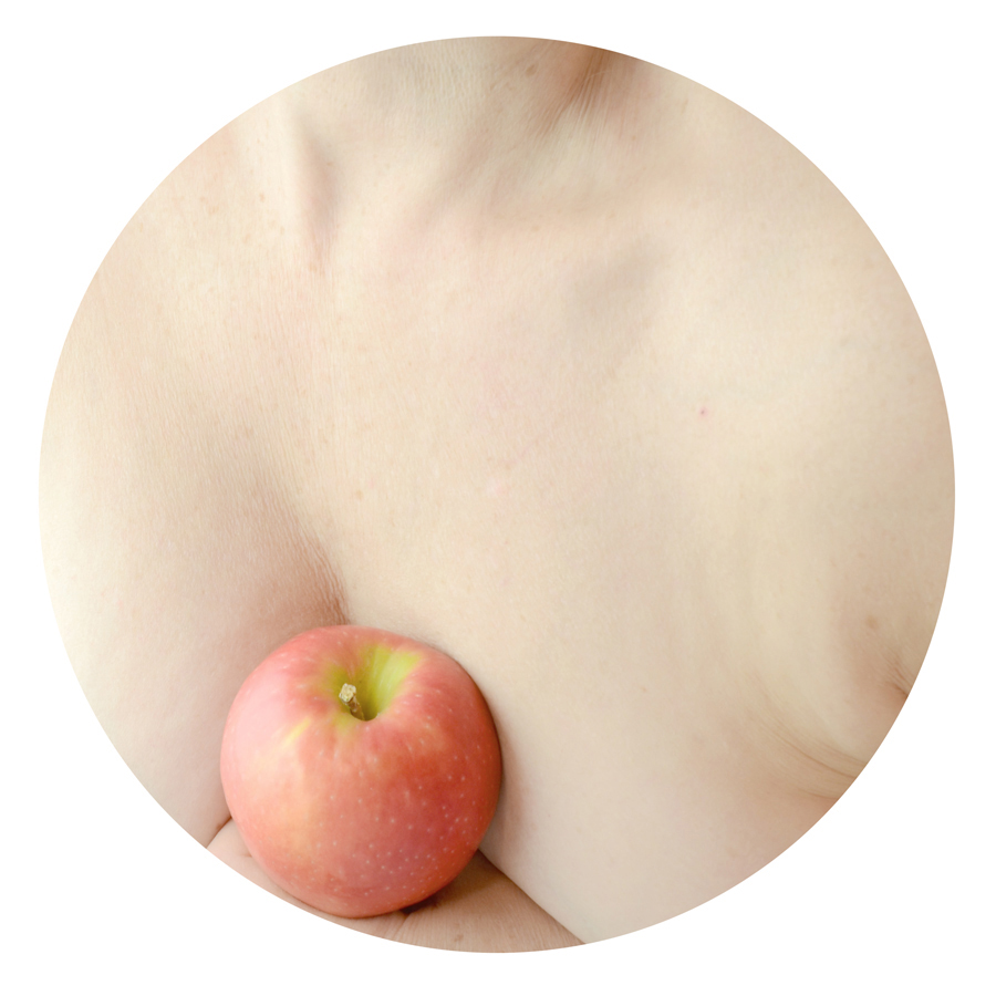 moon lines, apple pathways from the series Ponder Food as Love