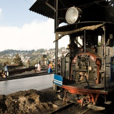 Documentary photography : Carsten Bockermann .Engines of the Darjeeling Himalayan Railway in the Darjeeling loco shed
