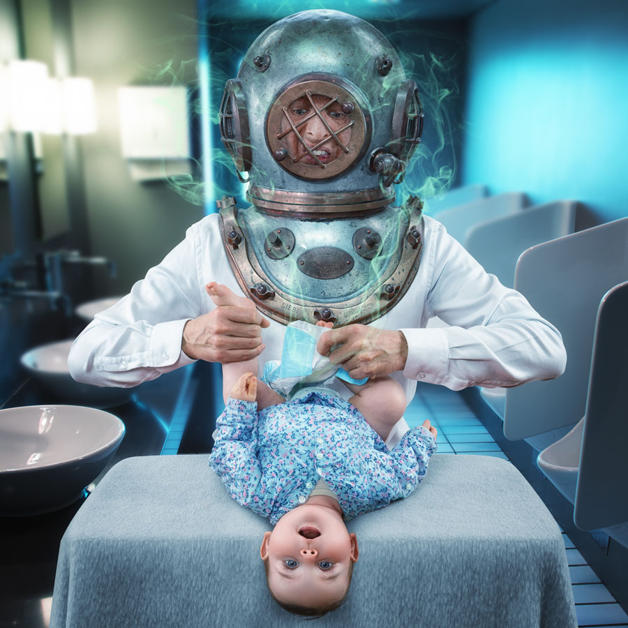 Creative photography / Journey to the Center of the Nappy