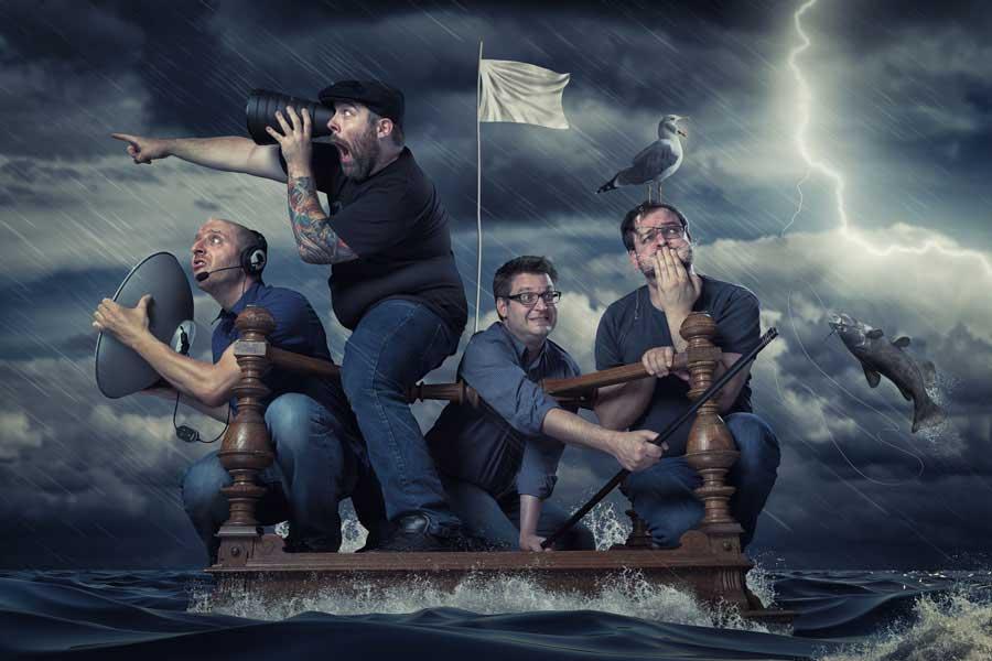 John Wilhelm / Just four shipwrecked photoshoppers