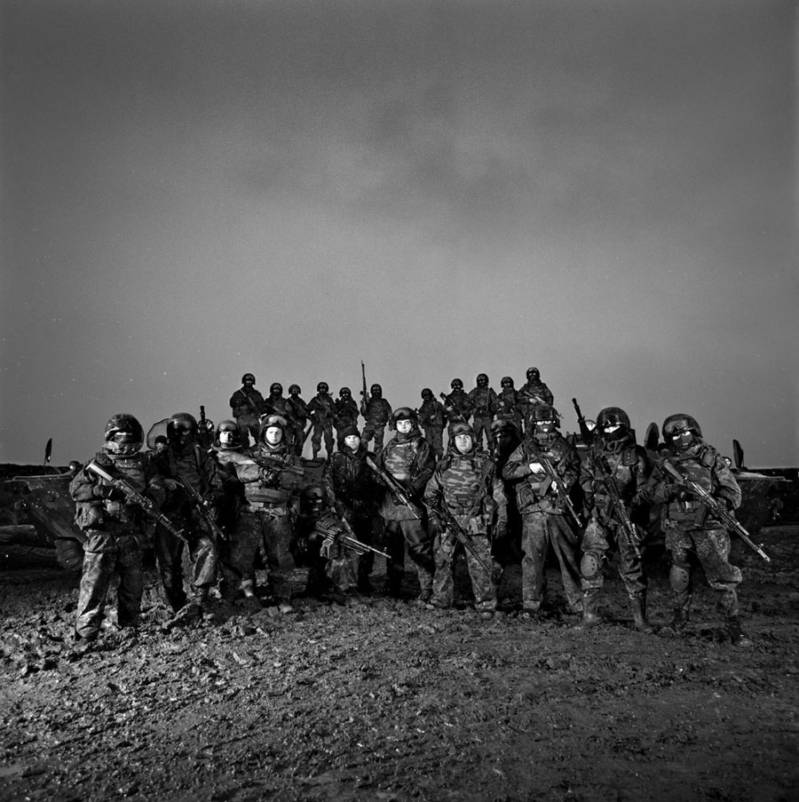 Dmitri Beliakov Group portrait of the fighters of detached reconnaissance battalion ORB-242 of the Interior Ministry special force, stationed in the Caucasus and regularly taking part in special missions in the Caucasus.