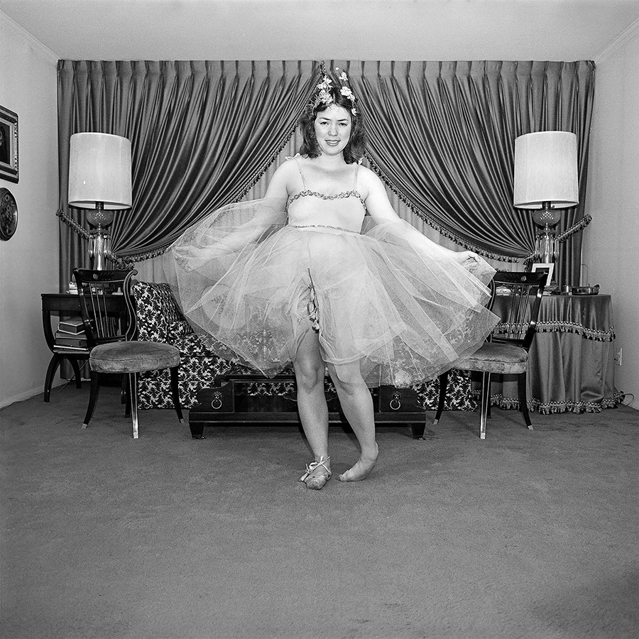 Self Portrait, The Ballerina, N Massapequa, NY June 1975 Meryl Meisler