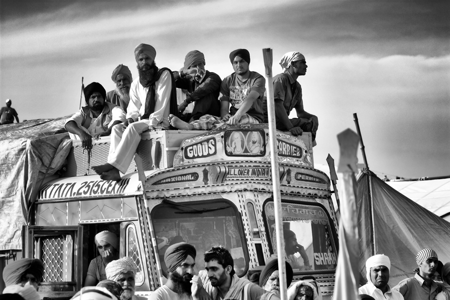 People travelling to Ananadpur Sahib during Hola Mohalla