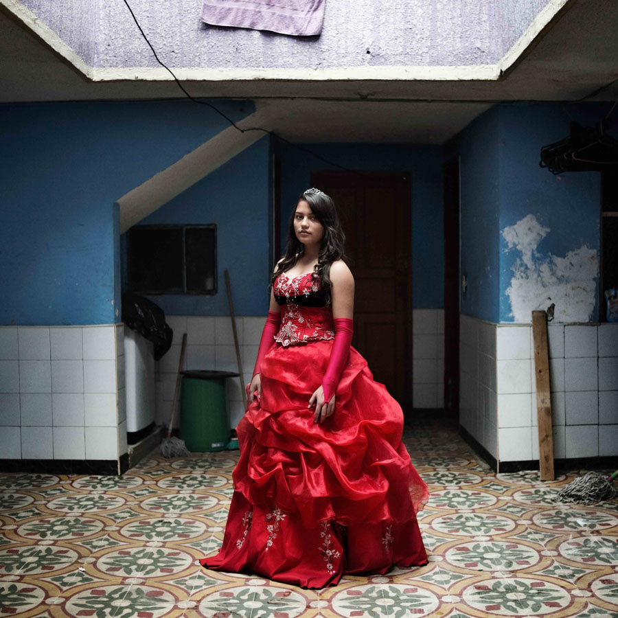 Natalia Salazar, Bogota, November 2014 Natalia spends most of her time alone. She was raised by her mother only who works every day at a shoe shop in the South of Bogota. Her fifteen birthday party was very simple with family and friends. Natalia wants to study medecine