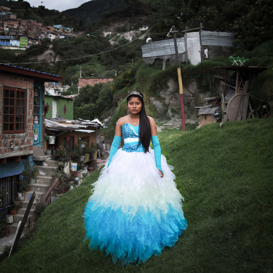 Brenda Lizeth Correa, Bogota, November 2014 Brenda's parents are both recyclers. They saved money for more than 3,5 years and spent more than 6,5 millions pesos (nearly 3000 US$) to organize the celebration. 150 people were invited. Brenda wants to become a surgeon