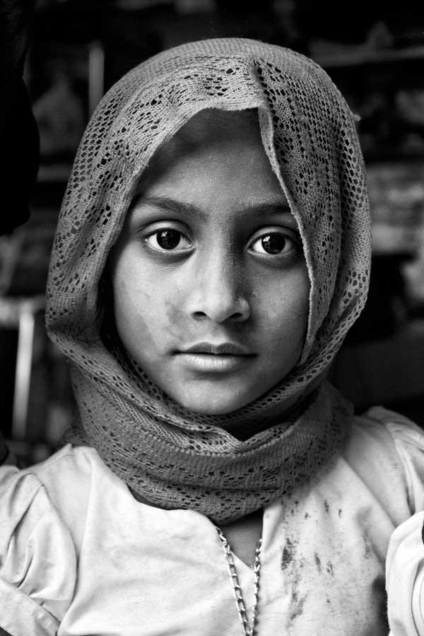 A cute Sikh girl during Hola Mohalla at Anandpur Sahib