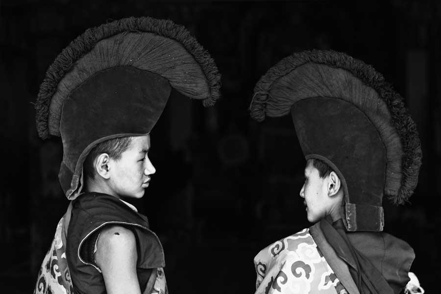 Interacting Monks