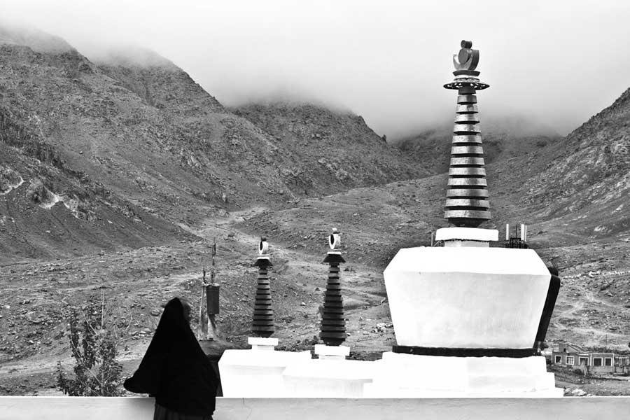 Deep silence at Spituk monastery, Ladakh