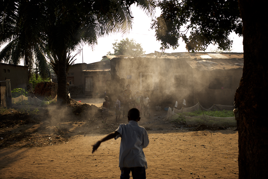 A child runs towards his house in the Chibitoke neighbourhood of Bujumbura. Cibitoke have in the past couple of moths been the scene of violent protests against the presidents third term bid.