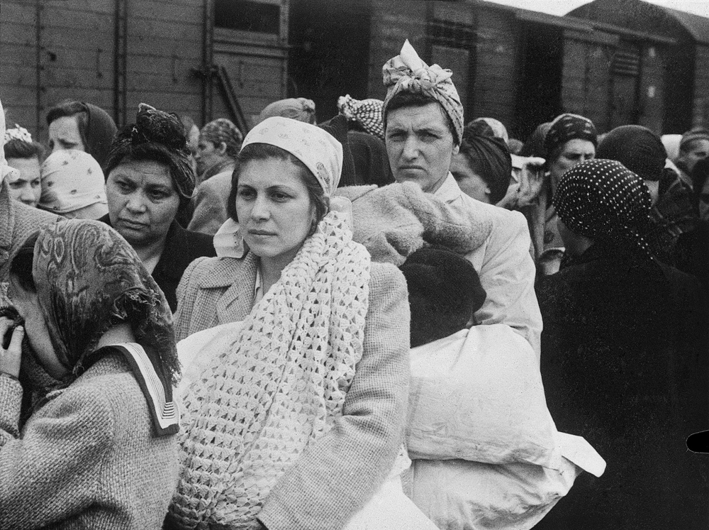 Auschwitz Album. After the selection. Still able-bodied women, 1944
