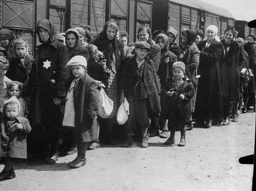 Auschwitz Album. Arrival of a transport, 1944