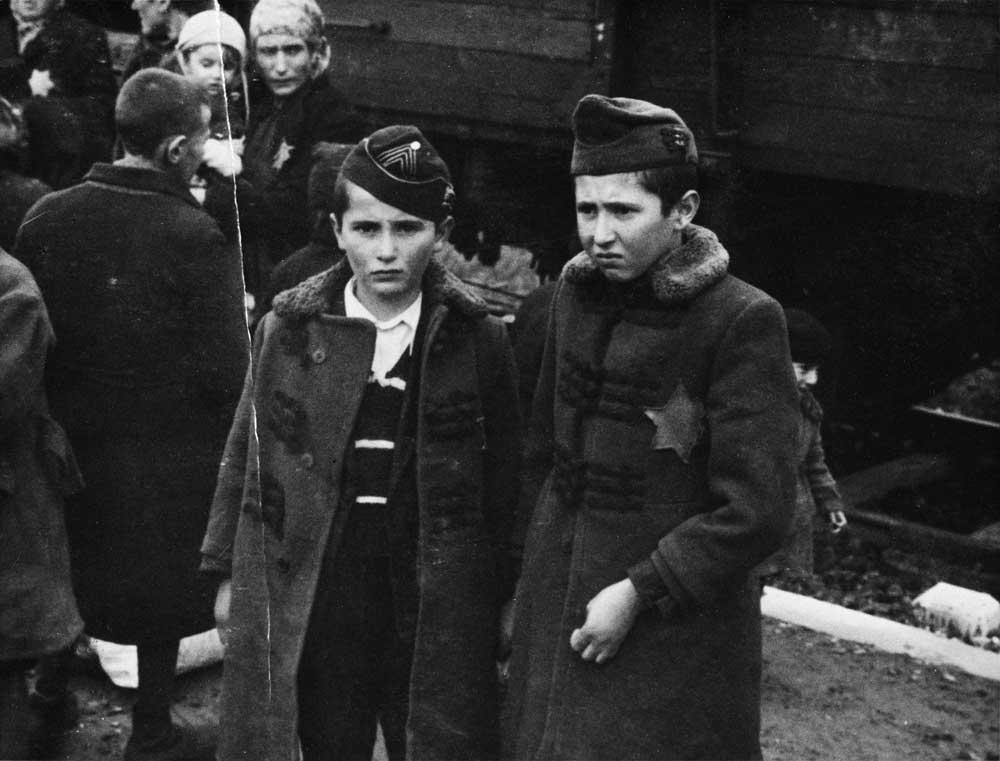 Auschwitz Album. Lili Jacob's brothers Zril and Zeilek, 1944