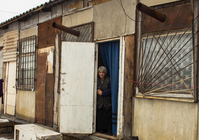 Gyumri Woman living in lodge1