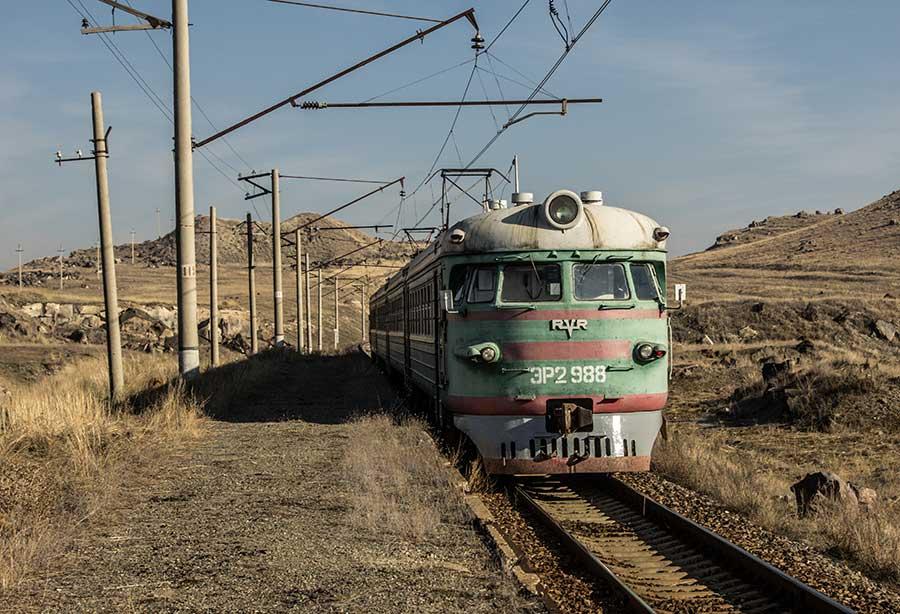 Train near Shirakavan
