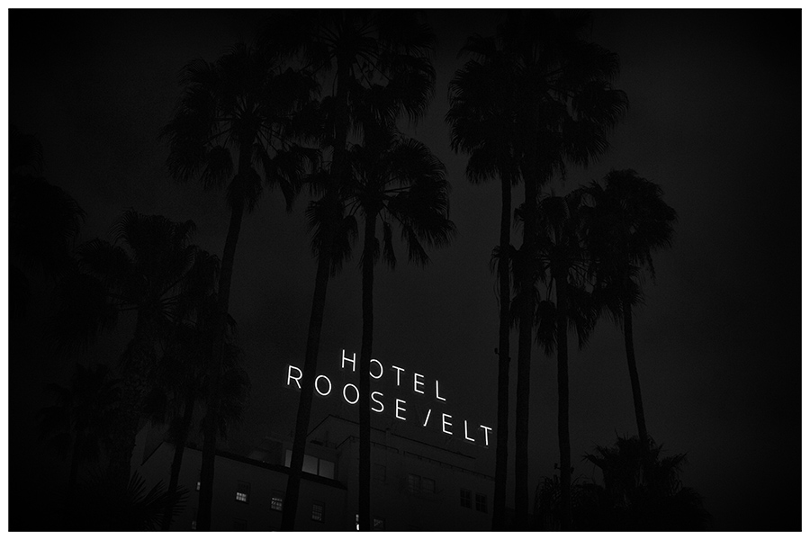 Hollywood Boulevard at Night - Roosevelt Hotel