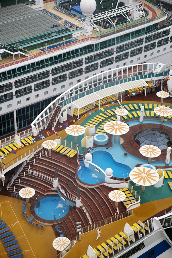 International cruise ships assemble in the berths of Keppel Harbour's Cruise Centre.