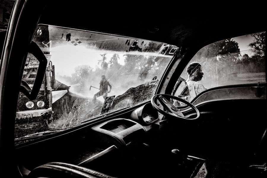 Men at work by Amlan Sanyal