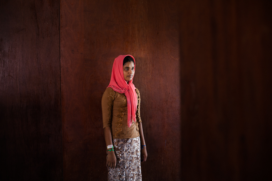 ZB (16), a Rohingya refugee from Myanmar, at a temporary shelter in Bayeun, East Aceh, Indonesia. On May 20th 2015, around 400 refugees and asylum-seekers stranded at sea for months were rescued by Indonesian Fisherman in Julok, Aceh province, Indonesia.