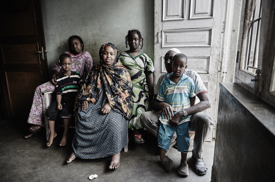 Family from Somalia living as illegal refugees in Kathmandu, Nepal.