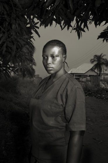 Monjama Moussa, 25, married mother of 4 children, from Goderich. She contracted ebola from a supplier of her coal shop. Her healing was considered as a sign of demon possession by her family that refused her.