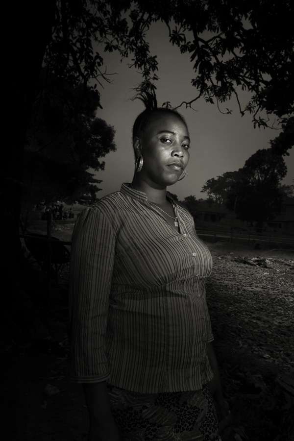 Mariama Jdyios, 27. She contracted the virus from her mother that also infected her father, her sister and her sister's husband. Her entire family was killed by ebola, and now she lives with her friends.