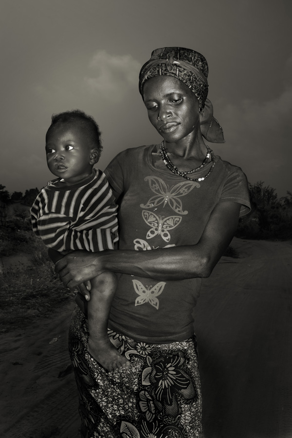 Fatmata Kamara, 25, with her son Koday, 1 from Waterloo. She has lost her husband and her aunt. She contracted ebola together with her son and they both survived.