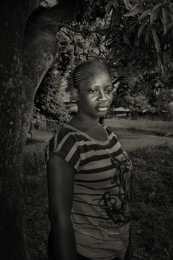 Isata Kamara, 20, she contracted ebola from her sister that died together with her brother and her mother. The symptoms of the virus infection lasted for 2 weeks.