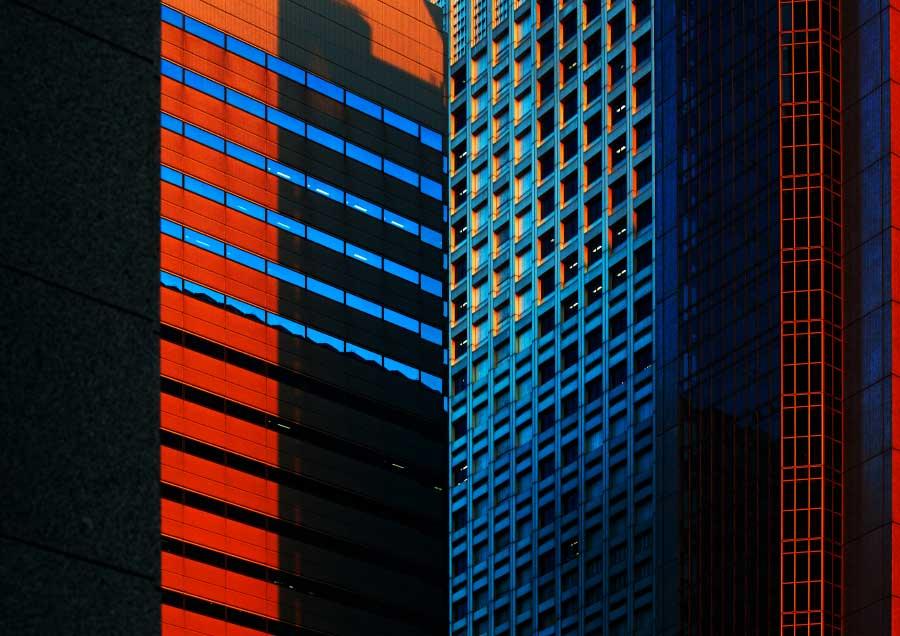 Urban kaleidoscope Red 1