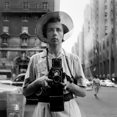 Vivian Maier (American, 1926 – 2009) New York City, September 10, 1955 Gelatin silver print; printed later Image size: 12 x 12 inches / Paper size: 20 x 16 inches ©Vivian Maier/Maloof Collection, Courtesy Howard Greenberg Gallery, New York