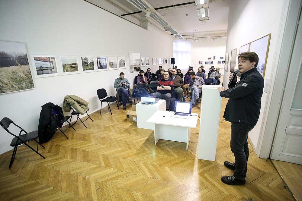 31.01.2016., Sarajevo - Sinisa Hancic odrzao zadnje predavanje na Balkan Photo Festivalu na temu autorskih prava. Photo: Petar Glebov/PIXSELL