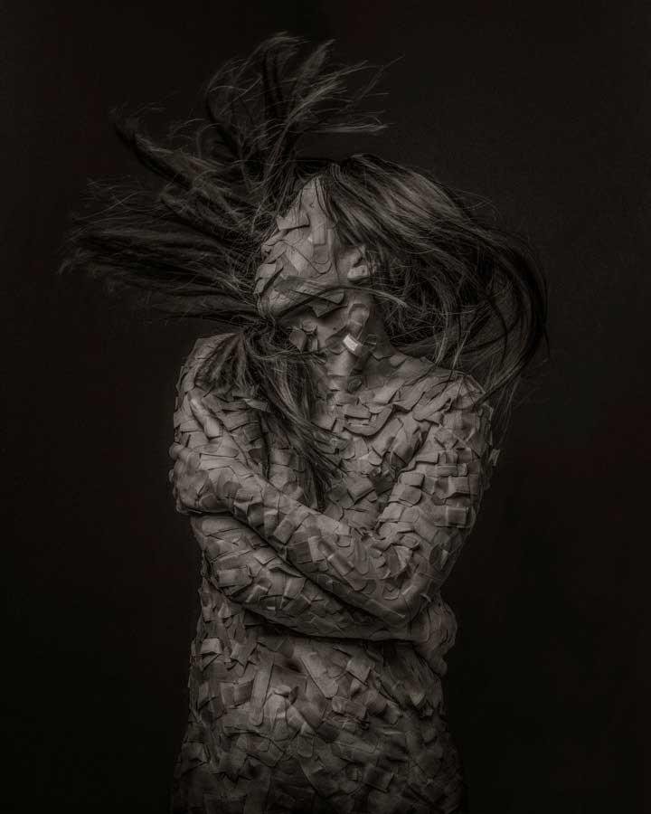 Bandage Portrait by Kai Nagayama