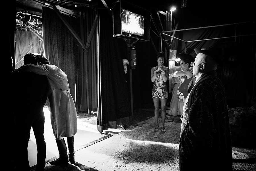 Behind the Curtain - Circus Roncalli