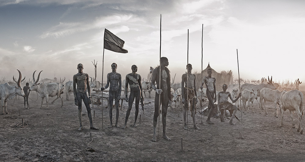 Mundari, Mayong, South Sudan, Africa, 2016. 105 x 180 cm. Edition 1/3.