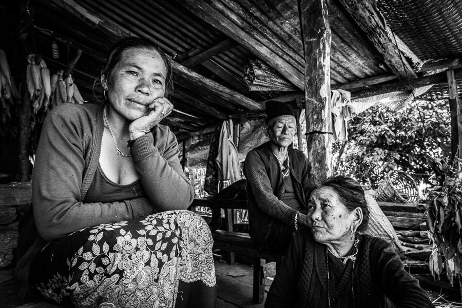 A family who lost their home during the earthquake of April 2015. Now they are living in a temporary shelter which they managed to rebuild using materials from the remains of their destroyed home